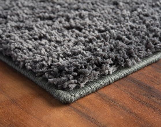 Cozy Shag Grey Area Rug Pick Size