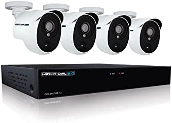 Night Owl 4 Ch. 5MP HD Video Security DVR w/1 TB HDD Cameras