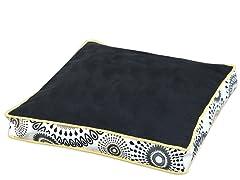 Black-Radius Black Boxed Pet Bed