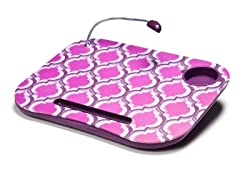 Lapdesk Cushion w/ LED Light - Pink