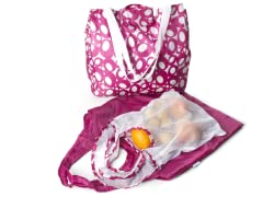 Good Kit 3 Grocery Bags - Raspberry