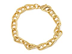 18K Gold Plated Marine Anchor Bracelet
