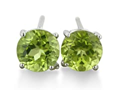 2ct Peridot Earrings In Sterling Silver