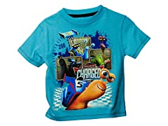 Turbo Short Sleeve Tee - Turq (2T-4T)