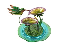 Hummingbird Fusion Glass Tabletop Water Fountain