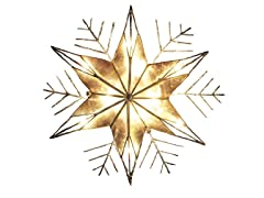 Kurt Adler Snowflake 10-Light Treetopper