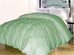 Stripe Down Alternative Comforter-Sage-3 Sizes