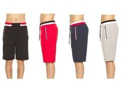 Men's Terry Shorts w/ Zip Pockets & Trim