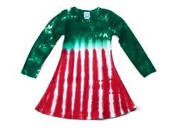 Girls Long Sleeve Dress - Peppermint