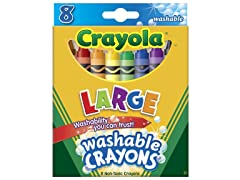 Crayola 52-3280 Crayola Washable Crayons, Large, 8