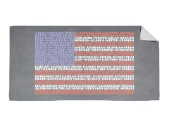 """Grateful for Diversity"" Beach Towel"