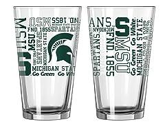 Michigan State Spirit Pint Glasses (2)
