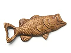 Fish Tale Bottle Opener -  Bass