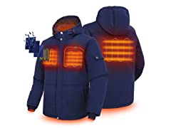 ORORO Men's Heated Hooded Jacket with Battery Pack