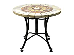 24-Inch Marble Mosaic Accent Table
