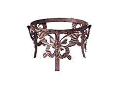 Butterfly Adorned Metal Ball Stand
