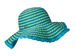Espanola Way Ribbon Sun Hat, Turquoise