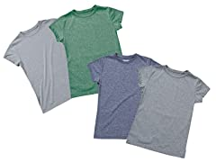 Ladies 2-Pack Short Sleeve Heather Tech Tee