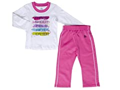 White 2-Pc Set (12M-5T)