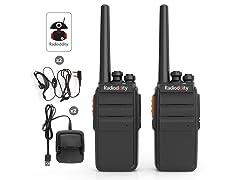 Radioddity R2 Long Range Walkie Talkie - 2 Pack