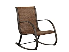 Gabella Outdoor Rocking Wicker Chair