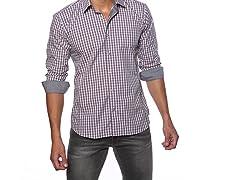 Jared Lang Dress Shirt, Pink/Grey