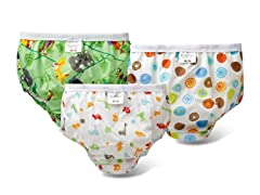 Training Pant 3PK - Crzy Circle Wht/Animals/Aussie