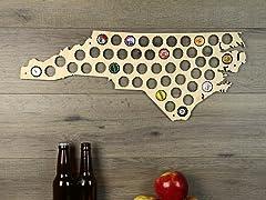 Beer Cap Map: North Carolina
