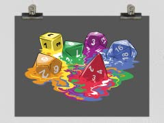 """Melting Dice"" Matte Poster"