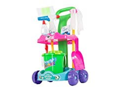 Pretend Play Cleaning Set & Caddy by Hey! Play!