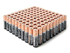 AA Alkaline Batteries - 100 Pack