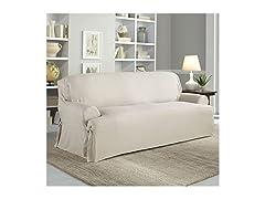 Serta Cotton Duck Slipcover T-Sofa