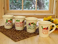 Latte Mug- 18OZ Set of 4