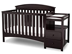 Delta Children Abby Convertible Crib/Changer Dark Chocolate