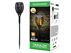 Solar Flickering Tiki Torches, 2 Pack
