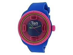 Ten Beats 3H Blue/Pink Watch
