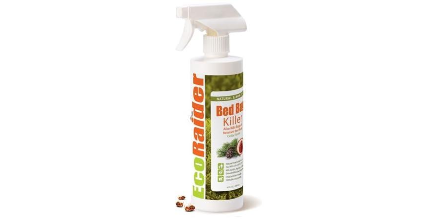EcoRaider Bed Bug Killer Spray 16 Oz, Green + Non-toxic, 100% Kill | WOOT