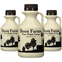 3 Pack Boon Farms Pure Grade-A Maple Syrup 16oz Bottle