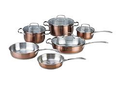 Kevin Dundon 10 Piece Cookware Set Copper