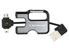 Scosche Keychain Charge/Sync Cable for mini/microUSB