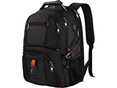 Matein Large Laptop Backpack, Unisex, Black