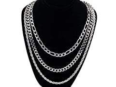 """Set of 3 20"""" , 22"""" and 24"""" Layered Chain"""