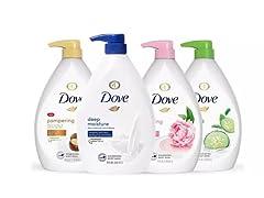 4-Pack Dove Shower Gel Body Wash w/ Pump