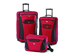 American Tourister Luggage Fieldbrook II 3 Piece Set, Red