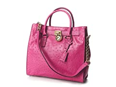 Large Hamilton Ostrich-Embossed Tote