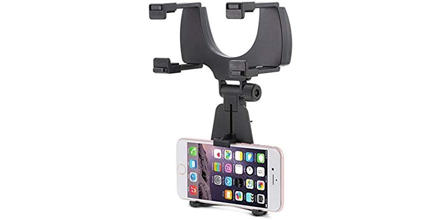 Aduro Rearview Mirror Universal Clip Mount for Smartphones | WOOT