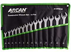 14-Piece Metric Combination Wrench Set