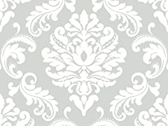 Ariel Grey Peel & Stick Wallpaper