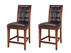 Hudson Counter Stools Mocha Set of 2
