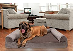 FurHaven Cooling Gel Top Sofa Pet Bed
